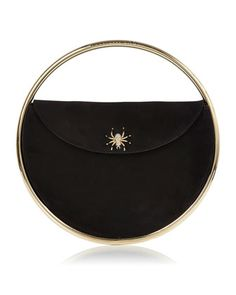 This+Is+Not+A+Bag+Suede+Clutch+Bag,+Black+by+Charlotte+Olympia+at+Neiman+Marcus.