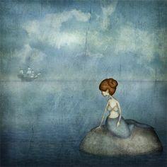 Sjöjungfrun - Illustration (liten storlek)