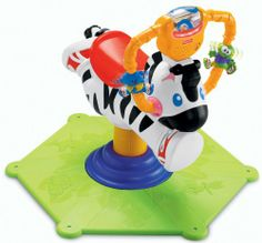 Fisher Price – K0317 – Jouet d'Eveil Premier Age – Zebre Tourni-Rebond | Your #1 Source for Toys and Games