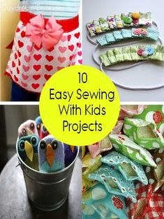 10 Sewing with Kids Projects