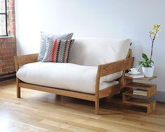 Oak 2 Seater Double Sofa Bed