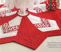 Miniature Tree Skirt - Christy Schmitz (designer) - stitch count 75w x 64h each