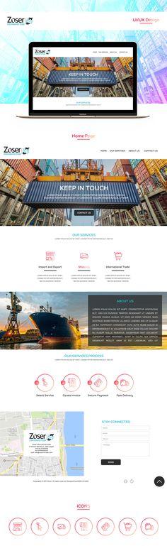 """Check out my @Behance project: """"Zoser international trade   UI/UX Design"""" https://www.behance.net/gallery/55411343/Zoser-international-trade-UIUX-Design"""