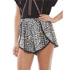 Bless'Ed Are The Meek Wild One Pom Pom Shorts Shorts Available in Natural - Fashion Brand Sale