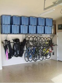 Gorgeous Garage crafts industry leading garage storage solutions including our innovative Monkey Bar Storage System. Contact a dealer to get your garage organized! Monkey Bar Storage, Ideas Para Organizar, Garage House, Dream Garage, Car Garage, Garage Doors, Organizing Your Home, Organizing Tips, Organization Hacks