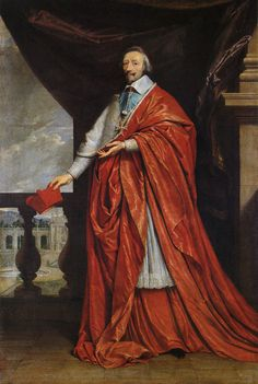 """""""Cardinal Richelieu (Armand Jean du Plessis) was born on this day September Portrait: Philippe de Champaigne"""" French History, Art History, Cardinals, Luís Xiv, Philippe De Champaigne, Diego Velazquez, Thirty Years' War, French Royalty, Land Of Nod"""