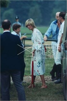 July 6, 1983: Prince Charles & Princess Diana and Major Ronald Ferguson at Smith's Lawn polo grounds, Windsor