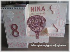 Lolascrap et compagnie: Carte d'anniversaire de Nina, 8 ans
