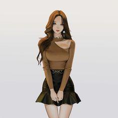 Female Character Design, Character Art, Anime Art Girl, Manga Girl, Fille Anime Cool, Style Anime, Fashion Art, Girl Fashion, Digital Art Girl