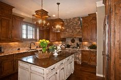 Sims Custom Cabinetry Knoxville  knotty alder cabinets