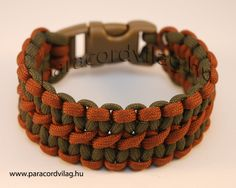 Paracord double cobra brown/army green
