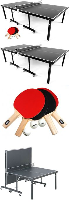 Stiga Instaplay Table Tennis Table + Classic 4 Player Set