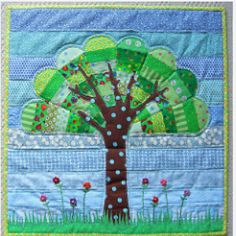 dresden plate tree wall quilt
