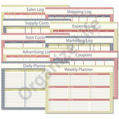 Business Planner Complete Package  Printable PDF  by OrganizeLife, $12.00
