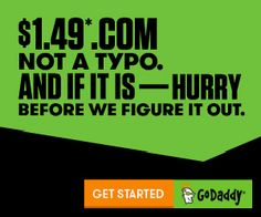 It's Not a Typo! Get $1.49 .COM Domains at GoDaddy!