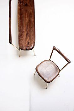 Studio Valentin Loellmann, Brass chair and bench.Photo ©Jonas Loellmann.