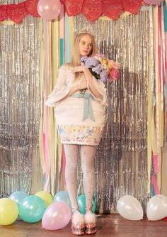 miss world, colorful, rookie mag, tavi, teenagers, prom, meadham kirchhoff, editorial, audrey kitching, balloons, pastel flowers