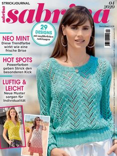 Sabrina No. Discussion on LiveInternet – Russian Online Diary Service - Hakeln Ideen Knitting Patterns Free, Free Knitting, Knit Crochet, Crochet Hats, Online Diary, Knitting Books, Knitting Magazine, Knit Jacket, Crochet Clothes