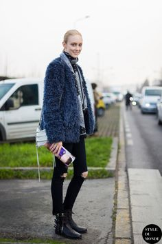 Frances Coombe Street Style Street Fashion Streetsnaps by STYLEDUMONDE Street Style Fashion Blog