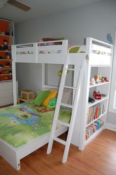 Loft bed Do It Yourself Home Projects from Ana White love this for big girls Loft Bedroom Kids, Girls Bedroom, Bedroom Decor, Bedroom Ideas, Bed Ideas, Build A Loft Bed, Loft Bed Plans, Easy Diy Projects, Home Projects