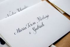 Buste per le partecipazioni di nozze + calligrafia