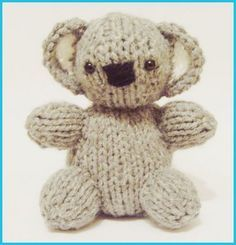 Free knitting pattern Koala Baby | Teddy Bear Knitting Patterns at http://intheloopknitting.com/free-teddy-bear-knitting-patterns/
