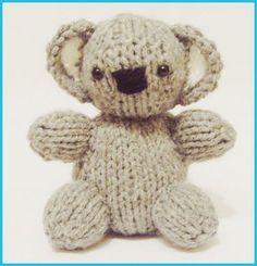 Free knitting pattern Koala Baby   Teddy Bear Knitting Patterns at http://intheloopknitting.com/free-teddy-bear-knitting-patterns/
