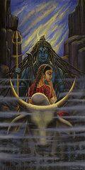 Featured Art - Shiva Parvati. Night in Himalayas by Vrindavan Das