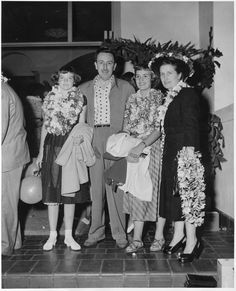 Walt Disney and his family sailing away on the SS Lurline in the 1950s from Los Angeles to Honolulu. The famous Matson Liner was a regular getaway for such stars as Elvis Presley, Lucille Ball, Clark Gable, Bette Davis and on and on.