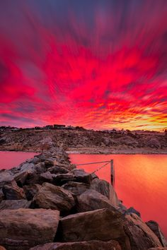 ~~O'sullivans beach sunrise ~ stunning red sunrise, Adelaide, South Australia by James PhotoGraphy~~