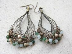 Fisherman's Wharf Earrings---  natural gemstones Earrings   -Nautical Earrings. $42.97, via Etsy.