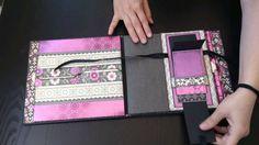 "Album ""My Spiritual Journey"" - Scrapbook Mini Album Mini Scrapbook Albums, Wedding Scrapbook, Mini Albums, Tutorial Scrapbook, Diy Crafts For Girls, Mini Album Tutorial, How To Make Paper, Craft Work, Wedding Accessories"