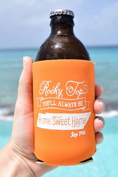 Rocky Top Tennessee Koozie in Orange by ThePinkHousePress on Etsy, $5.00