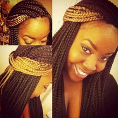 43 Cool Blonde Box Braids Hairstyles to Try - Hairstyles Trends Box Braids Hairstyles, Old Hairstyles, My Hairstyle, African Hairstyles, Protective Hairstyles, Protective Styles, Purple Box Braids, Colored Box Braids, Blonde Box Braids