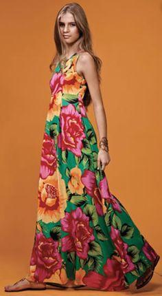 idéia de vestido de chita