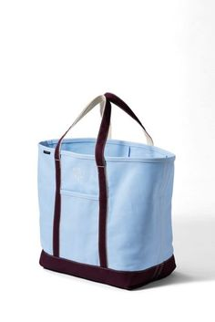 Extra Large Colored Open Top Canvas Tote Bag from Lands  End d7592c06753f1