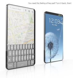 The Bubble phone concept designed by Seunggi Baek. It has a transparent display on the front side and a keypad on the back side.