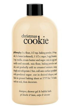 philosophy 'christmas cookie' shampoo, shower gel & bubble bath | Nordstrom