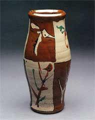 Photo of a vase by Shoji Hamada from the book Shoji Hamada A Pottery's Way & Work