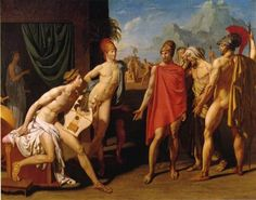 Ambassadors Sent by Agamemnon to Urge Achilles to Fight - Jean Auguste Dominique Ingres : 1801