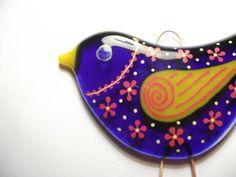 Large Fused Glass Bird Suncatcher.. £17.50, via Etsy.