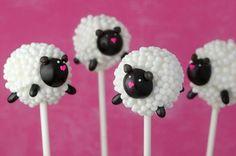 adorable sheep cake pops