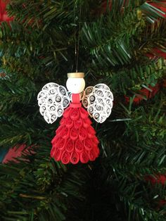 Quilling Angel Ornament choose your color