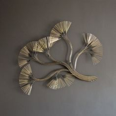 Curtis Jere Metal Wall Sculpture 1980s Flowering Branches Brass Wall Hanging on Etsy, $975.00