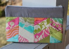 amy butler pouch. front. by canoeridgecreations