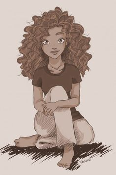 how to draw natural hair - Google Search