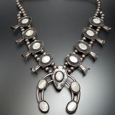 Native American Old Pawn Navajo Sterling Silver White Mother Of Pearl – Gold Stream Boutique