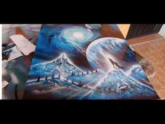 Spray paint art wolf - YouTube Spray Paint Artwork, Spray Painting, Awesome Art, Cool Art, Acrylic Art, Sculpture Art, Artworks, Wolf, Watercolor