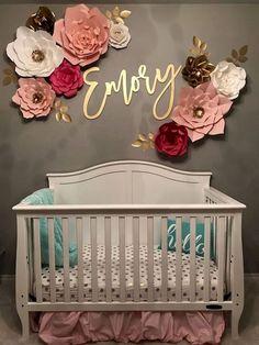 33 Adorable Nursery Room Ideas For Baby Girl - Baby - Bebe Baby Bedroom, Nursery Room, Girls Bedroom, Nursery Name Decor, Baby Girl Rooms, Room Baby, Baby Girl Nursery Themes, Themed Nursery, Baby Girl Nurseries