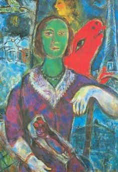 Marc Chagall,  Portrait of Vava Fine Art Reproduction Oil Painting